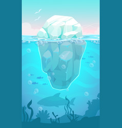 Big iceberg in the ocean vector