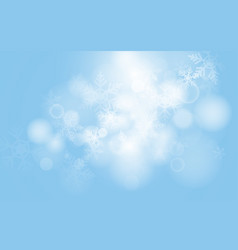 blue christmas snowflakes with abstract bokeh vector image