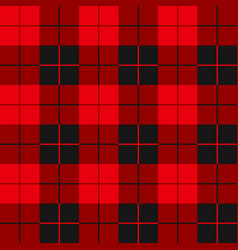 Buffalo plaid seamless pattern alternating red vector