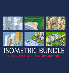 bundle set infrastructure vector image