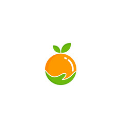 care fruit logo icon design vector image