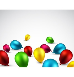 Celebrate background with balloons vector image