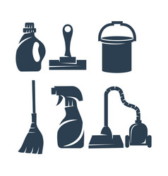 cleaning service tool business logo design vector image