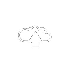 Cloud upload flat icon vector