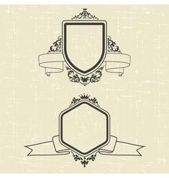 Contour emblems vector