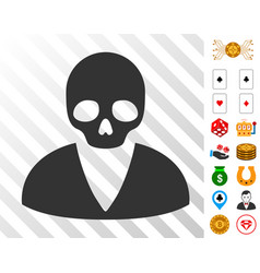 Death man icon with bonus vector