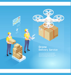drone delivery service technology vector image