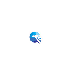 eagle bird logo icon vector image