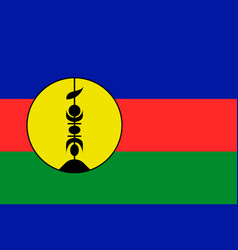 flag new caledonia flat style vector image