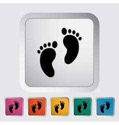 Foot icon vector