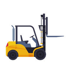 forklift truck special vehicle flat style vector image