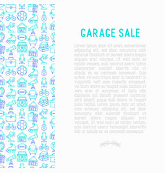 garage sale concept with thin line icons vector image