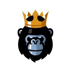 gorilla head logo vector image