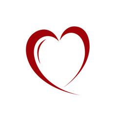heart element design vector image