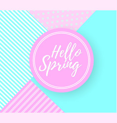 hello spring background vector image