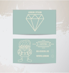 hipster card vector image vector image