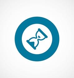 Hourglass bold blue border circle icon vector