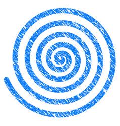 Hypnosis spiral grunge icon vector