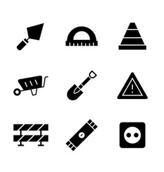 icon set constructionrepair in flat style vector image