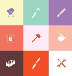 Industrial tools set vector image