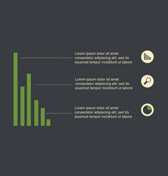 Infographic design with graph and icon collection vector