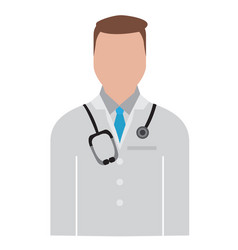Isolated male doctor avatar vector