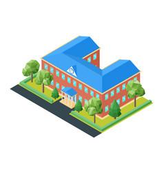Isometric school building vector