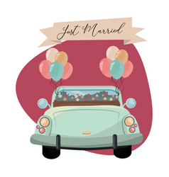 Just married cartoon vector