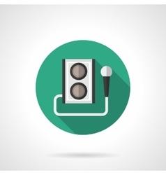 Karaoke round flat color icon vector