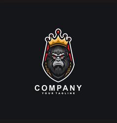 King gorilla sport logo design vector