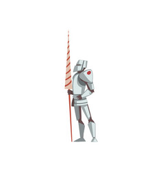 Knight in full body armor suit medieval vector