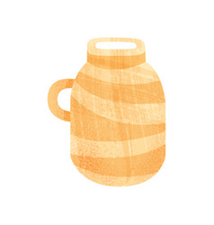 large ceramic pot with narrow neck and one handle vector image
