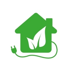 Leaf house plug ecology icon graphic vector