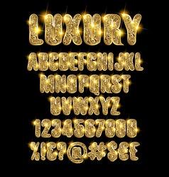 Luxury gold alphabet vector