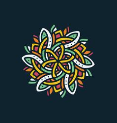 mandala 7 vector image
