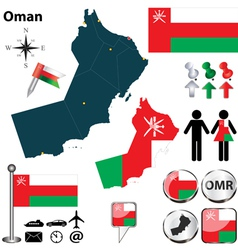 Map of Oman vector image