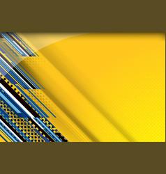 metal yellow background vector image