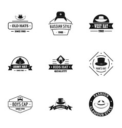 National style logo set simple style vector