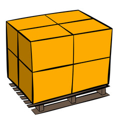 Pallet icon cartoon vector