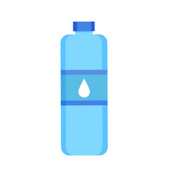 plastic bottle with water vector image