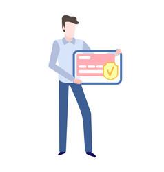 plastic credit-card buyer advertisement banking vector image