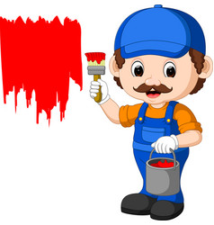 Professional painter cartoon vector