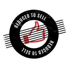 Reduced To Sell rubber stamp vector
