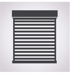 roll up door icon vector image