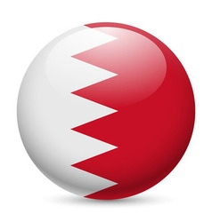 Round glossy icon of bahrain vector