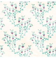 Seamless pattern with hand drawn flowers vector
