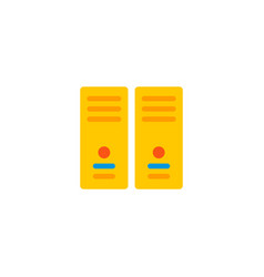 server icon flat element of vector image