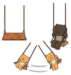 set of swing vector image