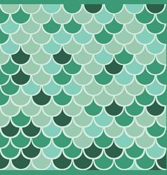 Shades green multicolor mermaid fish vector