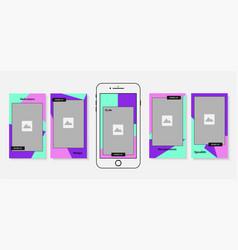 social media stories design bundle vector image